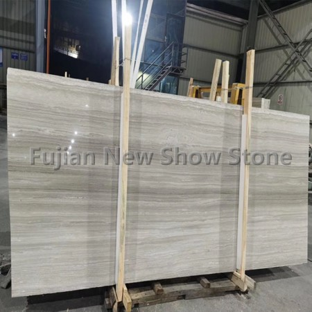 2cm white wood marble