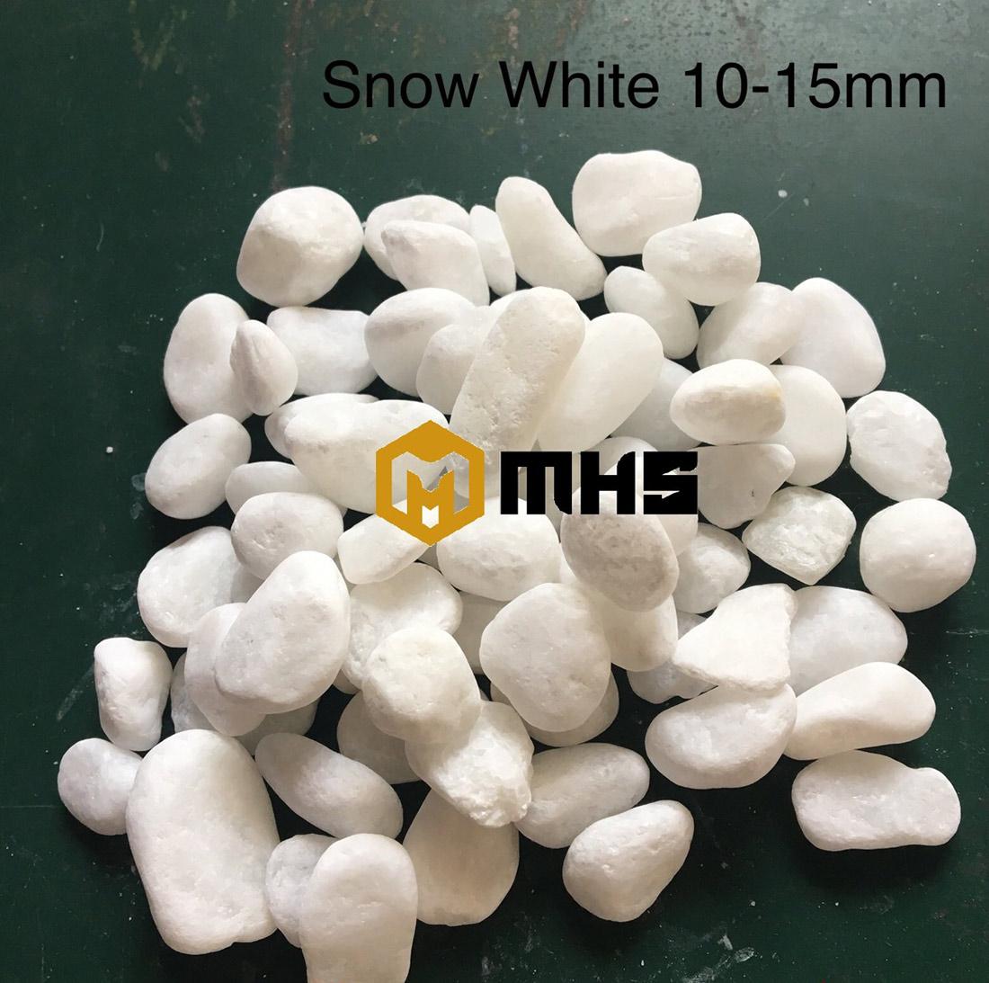 White marble pebble stone