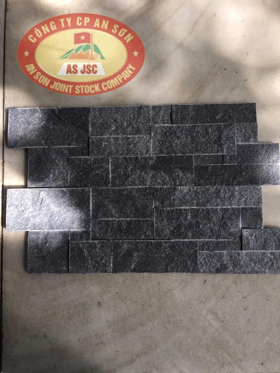 Discount Black Wall Cladding Stone 20x60x1.5 cm