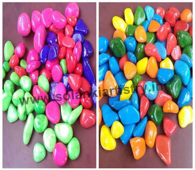 color pebble stone