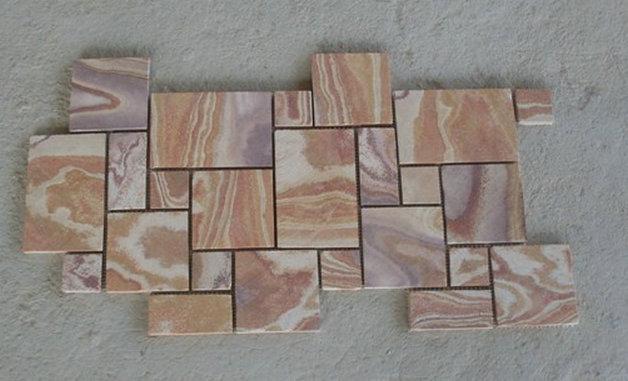sandstone mosaic wall panel