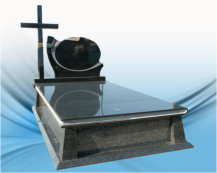 High quality granite monument with cross shape