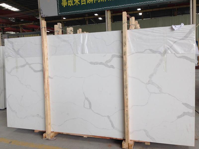 calacutta luna quartz stone slab