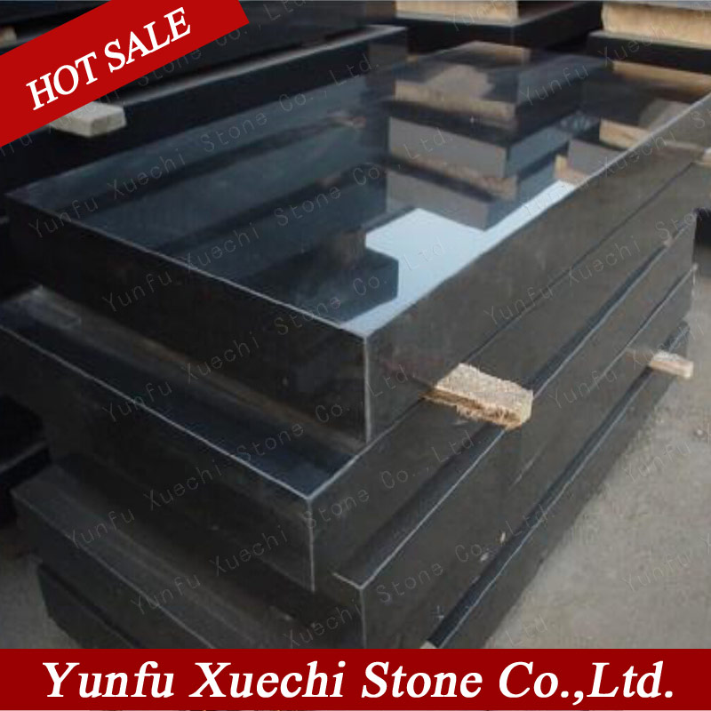 shanxi black granite monument 180x60x3cm