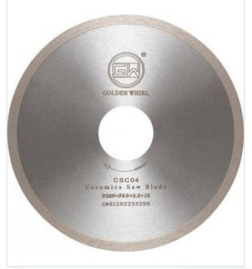Continuous tooth Ceramic saw blade 260