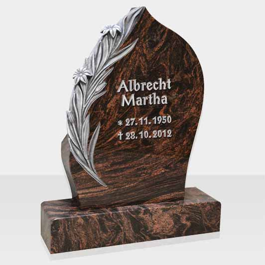 Granite headstone for Germany market