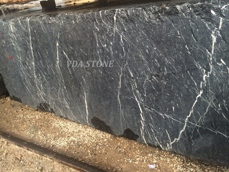Fossil Black Marble Block