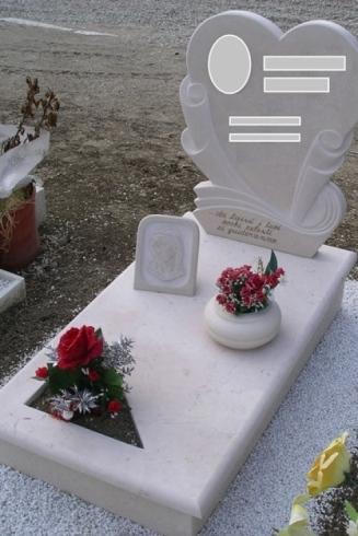 Unique headstone granite tombstone