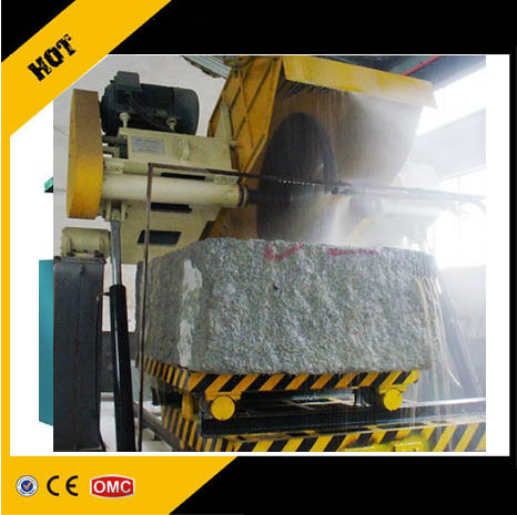 Hydraulic gantry stone block cutting machine