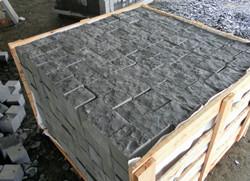 black basalt paving stone
