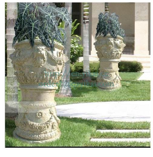 garden stone flowerpot-1