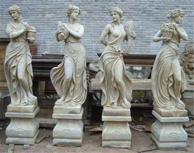 Antique four season goddess marble statue