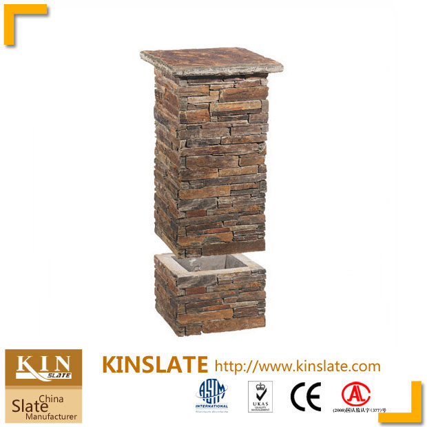 Multicolor slate ledgestone column units