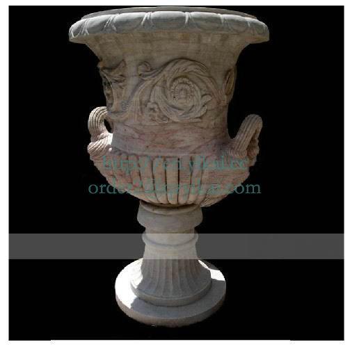 stone flowerpot vase garden planter