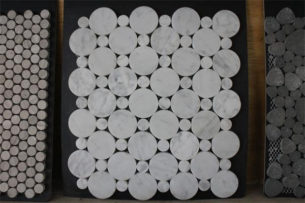 stone mosaic hexagen mosaic marble mosaic