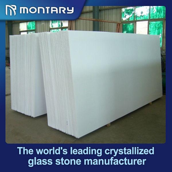 Hot Sale White Crystallized Glass Stone Flooring T