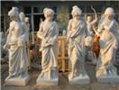 White marble four season goddess statue