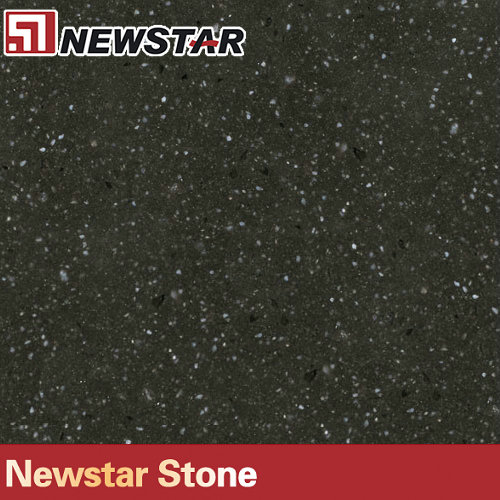 Newstar black sparkle quartz stone