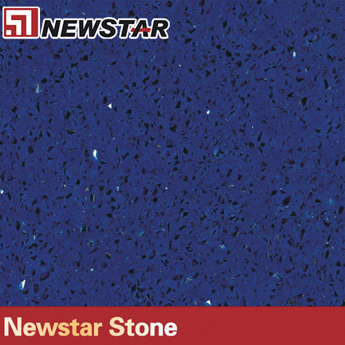 blue artificial quartz stone