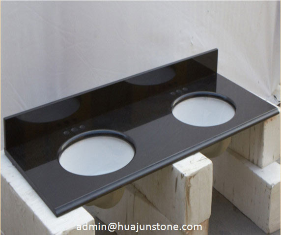 Double Sink Granite Vanity Tops