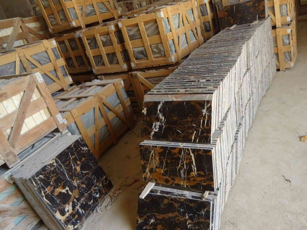 Black and Gold Marble Tiles