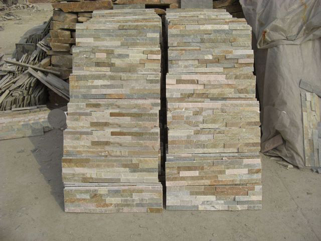 Beig Slate culture stone Stacked wall Panels