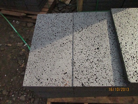 Lavastone with holes basalt