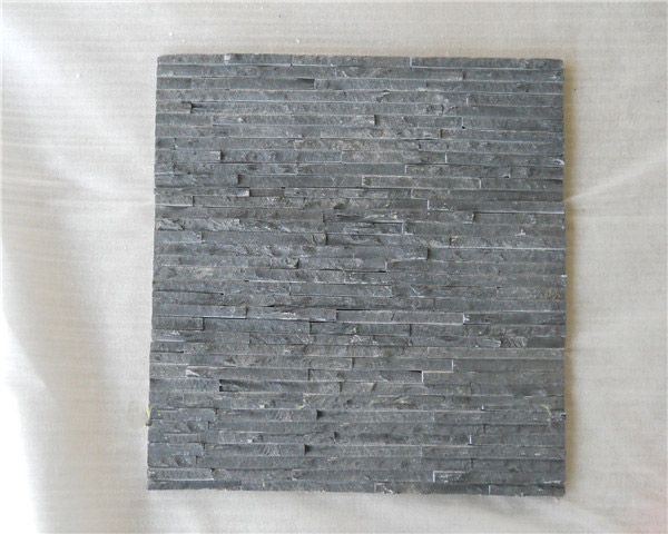 Black slate wall panel cladding