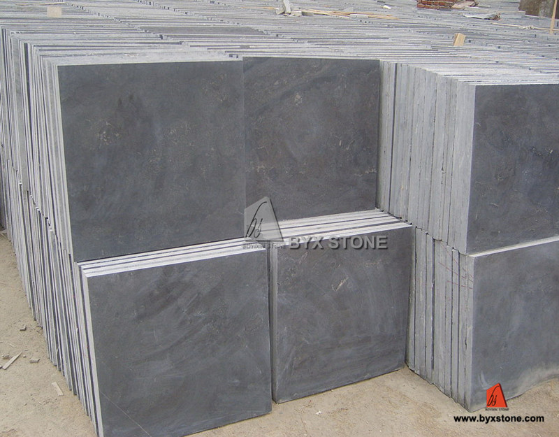 China Natural Outdoor Honed Blue Limestone for Tiles and Paver