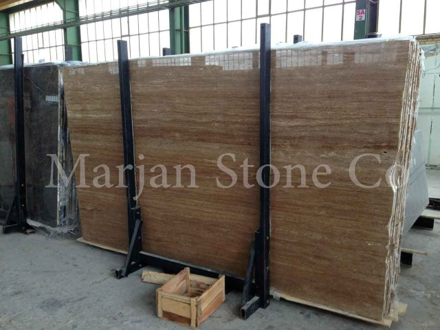 Chocolate Travertine Slab
