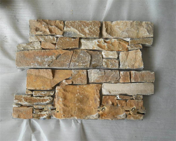 Cement quartz stone wall cladding