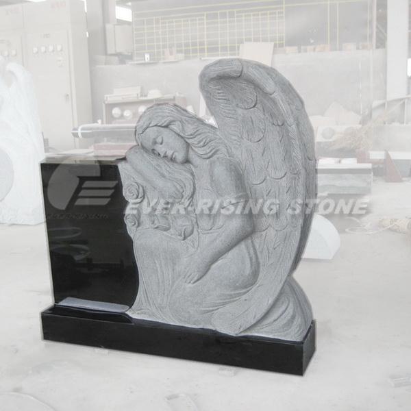 China Shanxi Black Granite Angel Monument