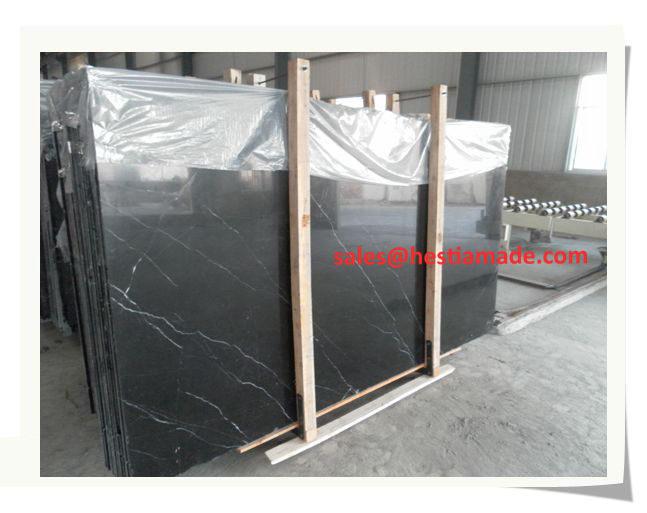 China Nero Marquina Marble Slabs