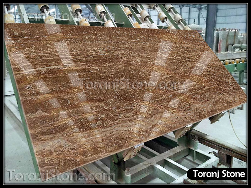 Chocolate Travertine Stone - Code T103