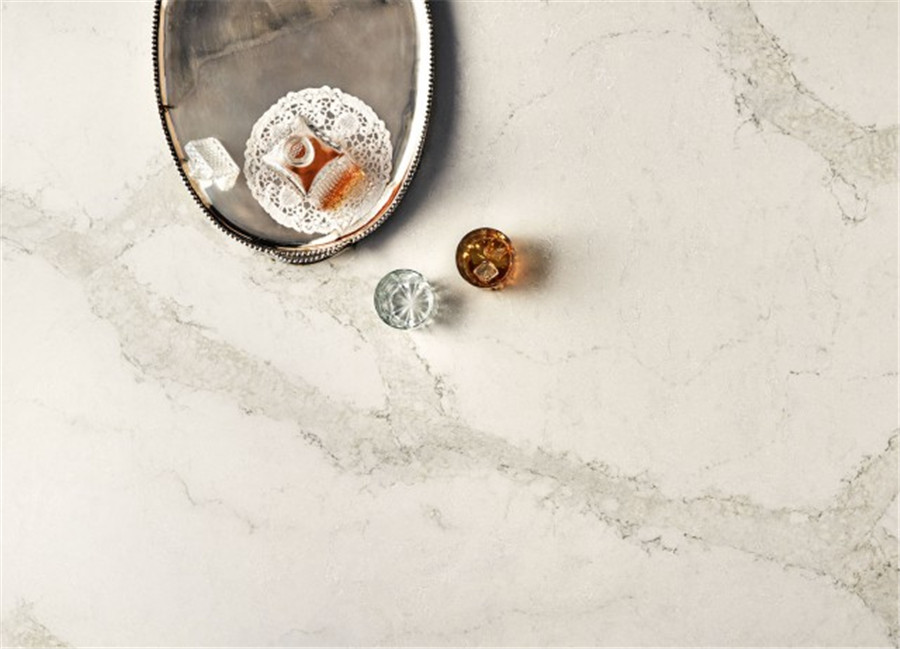 Calacatta Gold Solid Surface and Countertop with Bright Surface