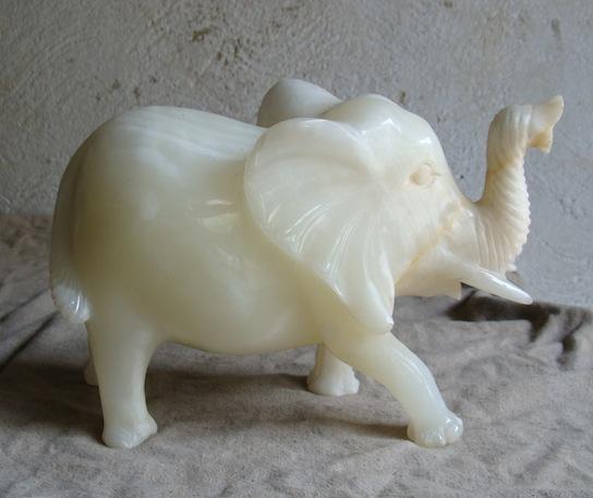 Onyx Elephant Sculpture