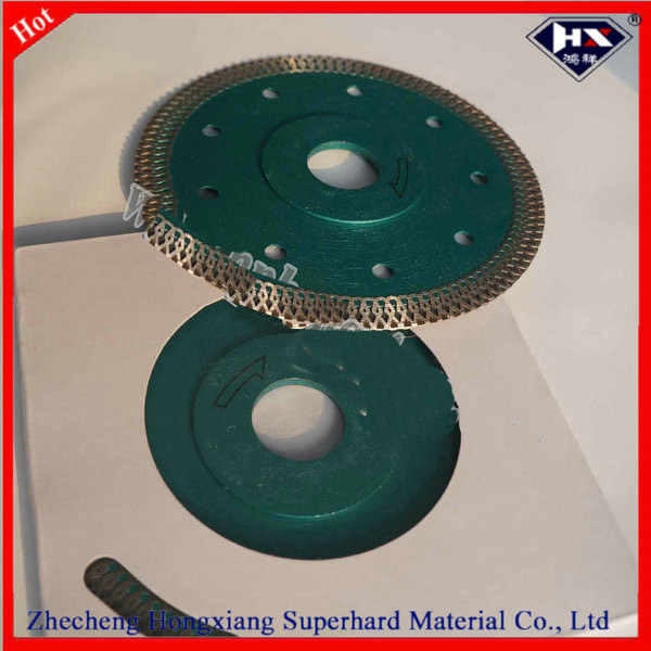 Super thin and cutting fast diamond cutting blade