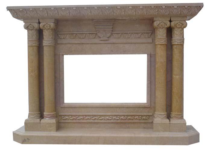 Marble Travertine Fireplace