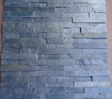 Grey slate wall panels