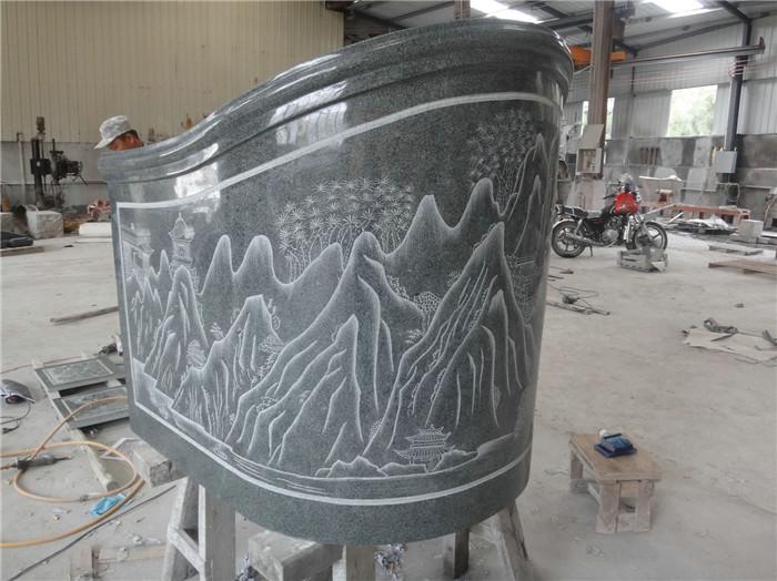 Granite headstone in simple design