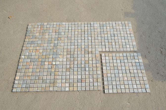 Yellow Quartz Slate Mosaic for bathroom