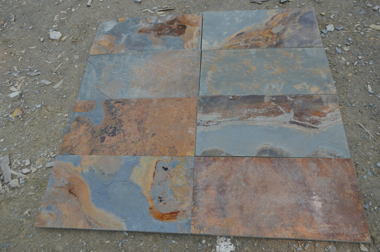 Rusty slate slab tile  30x60cm
