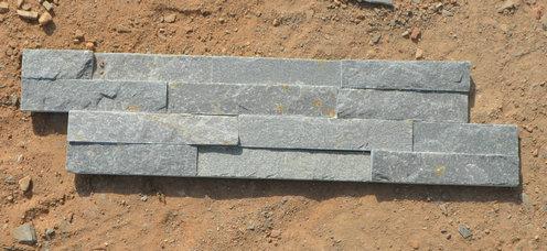 Grey slate-stack stone 10x40x0.5-1cm