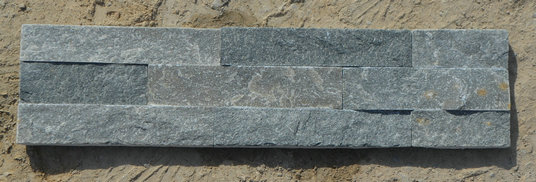 Grey slate-wall stone cladding 10x40cm