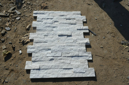 White quartz cladding
