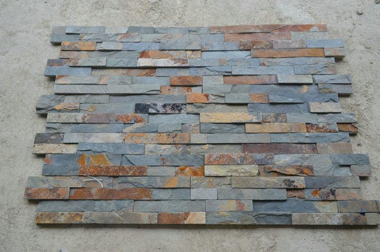 Rusty slate callding wall stone