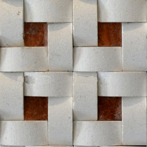 White basket travertine mosaic for bahtroom backsplash