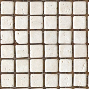 White travertine wall mosaic tile 1x1cm with gap