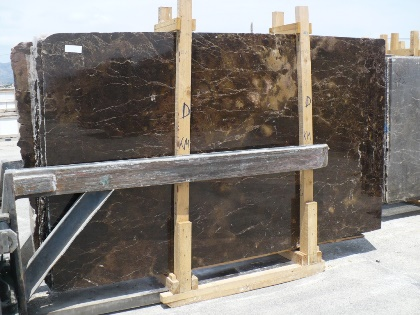 Dark Emperador polished slabs Commercial