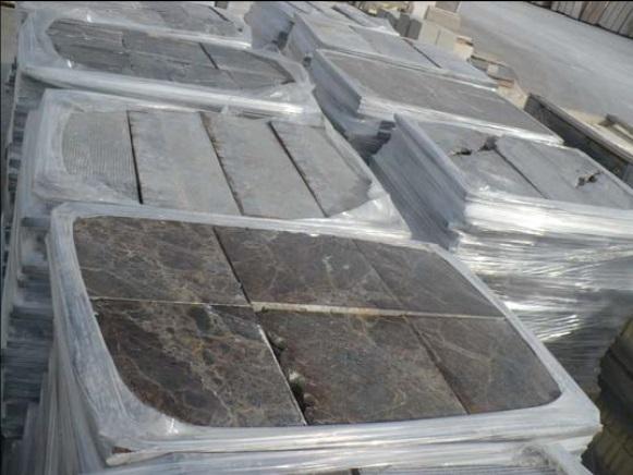 Dark Emperador polished broken tiles 2 cm